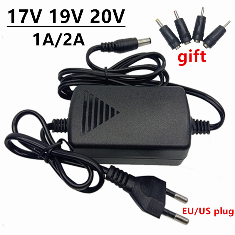 17V <font><b>19V</b></font> 20V AC <font><b>DC</b></font> <font><b>Power</b></font> <font><b>Adapter</b></font> 17 19 20 Volt ac/<font><b>dc</b></font> Adaptor 1A 2A <font><b>Power</b></font> Switching Supply EU US 220V To 17V <font><b>19V</b></font> 20V adaptador image