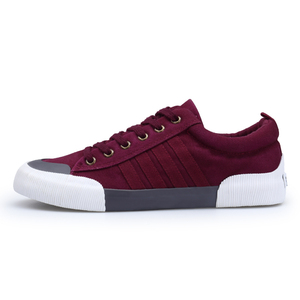 Image 2 - شانتا 2020 الرجال حذاء قماش موضة بلون الرجال أحذية مفلكنة الدانتيل متابعة حذاء كاجوال أبيض الرجال أحذية رياضية chaussure homme