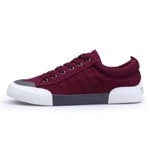 Image 2 - SHANTA 2020 Men Canvas Shoes Fashion Solid Color Men Vulcanized Shoes Lace up White Casual Shoes Men Sneakers chaussure homme