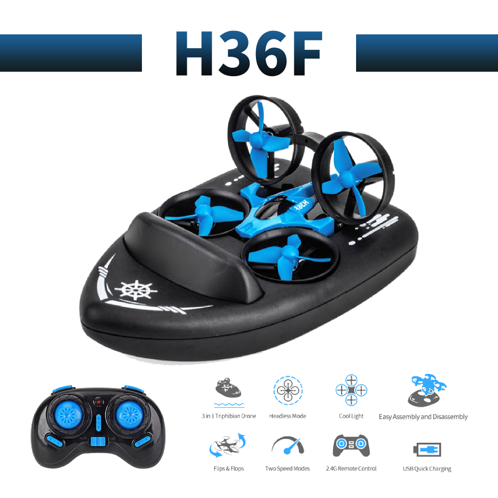 H36F profissional Mini terzetto drone 360     roll Brush motor propeller Long Battery water ground air RC dron Quadcopter
