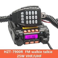 Mini Car Walkie Talkie 1-50km 25W U / V Double Intercom Self-driving Tour FM HZT-7900R
