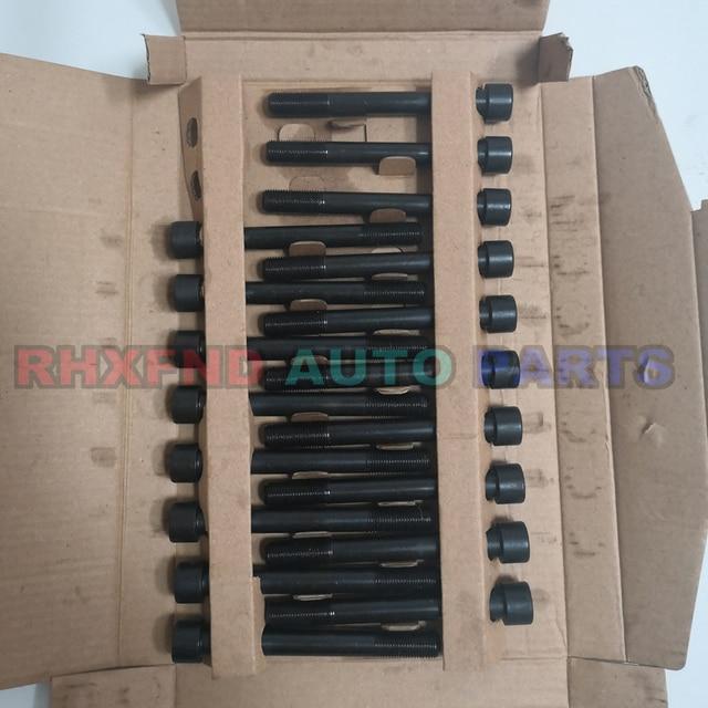 18pcs 4d56t 4d56 헤드 볼트 너트 현대 h1 h100 갤럽 exceed for mitsubishi montero pajero l300 canter 2476cc 2.5td