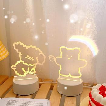 Ins Mädchen Der Herz Schöne Bären Nacht Lampe Einstellbar Lampe Quelle Atmosphäre Lampe