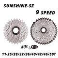 Кассета на колесо для горного велосипеда, 9 скоростей, 9 S 25/28/32/36/40/42/46/50T, для SHIMANO M370 M390 M4000 M590 sram 9 в
