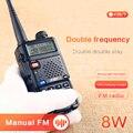 1 шт. KSUN UV5R B двухстороннее радио УКВ 136-174 & 400-520 МГц трансивер 8 Вт ультрафиолетовая 5R UV-5R иди и болтай Walkie Talkie