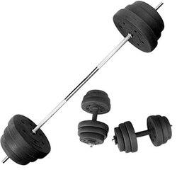 Gewichtheben hantel set hause hantel männer 35kg übung arm dual-verwendung kombiniert gerade bar barbell fitness ausrüstung