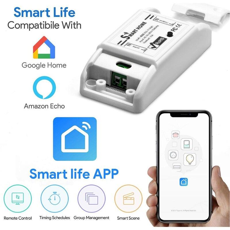 WIFI Smart Switch On-Off Gerät Smart Leben APP Fernbedienung Unterstützung Alexa Google Startseite voice control AC90V-250V 10A unterbrecher
