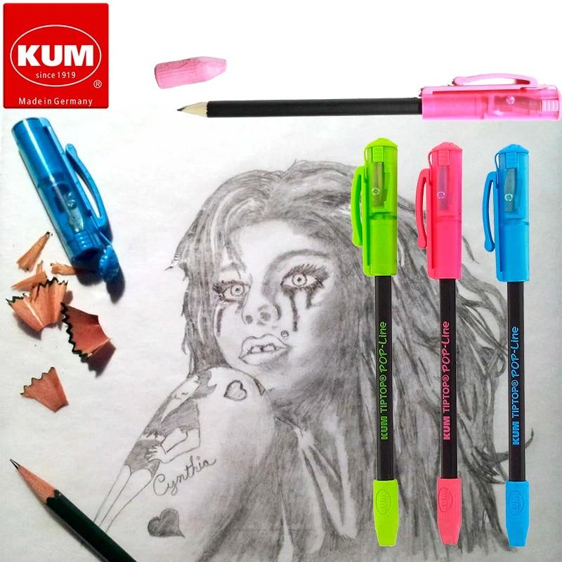 Kum az347.02.22/B Eraser di matita temperamatite TipTop Pop Line blu 1/pezzi