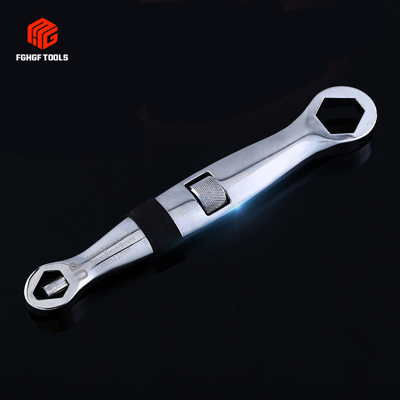 Multi functional 4 19mm Quick Adjustable Torx Nut Snap Grip Wrench Spanner Bionic Ratchet Ratchets Release Flexible Universal|Wrench| |  - title=