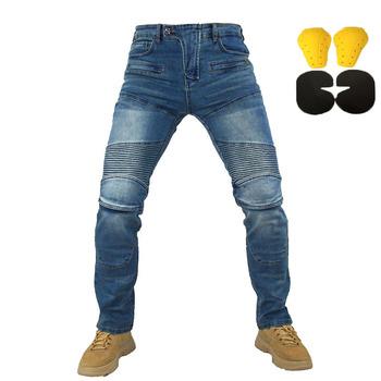 nowy 718 spodnie spodnie motocyklowe mężczyźni dżinsy Moto ochronny sprzęt jazda konna Touring motocykl spodnie spodnie motocrossowe spodnie motocyklowe tanie i dobre opinie hagworm CN (pochodzenie) Majtki protection Nylon i bawełna