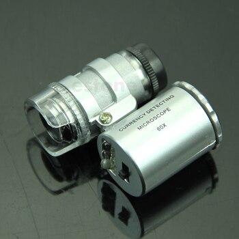 Mini lupa de 60X para microscopio con luz LED, espuenda solución para comprobar tus soldaduras. 1