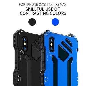 Image 2 - Funda protectora de doble capa para teléfono iPhone, carcasa de aleación de aluminio y Metal para teléfono iPhone XS Max XR X 6 6S 7 8 Plus 5 5S 5C SE
