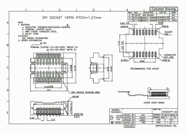 16 pin SMD SPI Flash Buchse für SO16W Chip - BIOS Motherboard Eeprom Atmel PIC