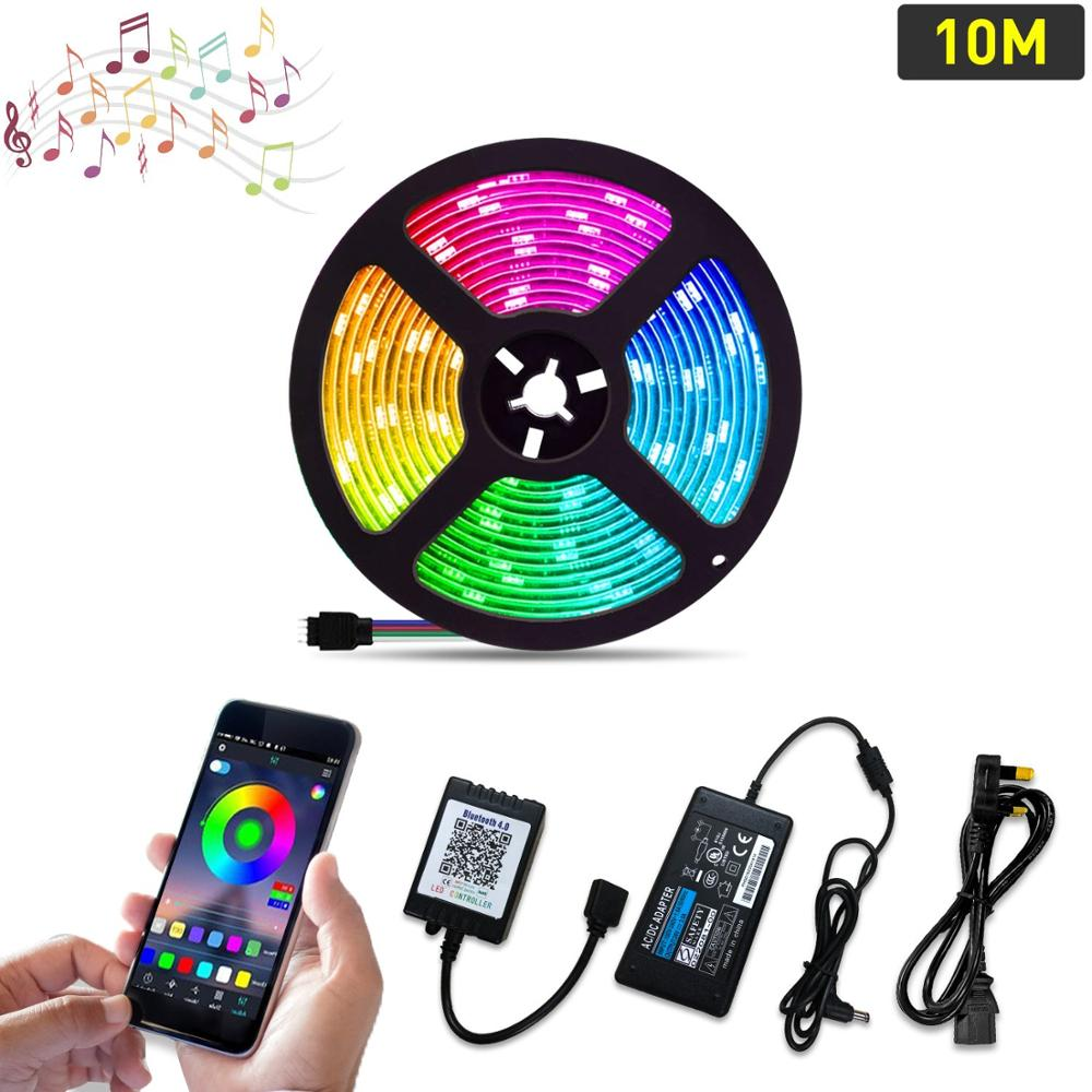 5050 RGB LED Strip Light Kit for Interior decorative light belt 10 Meters/32.8ft 24V 300LEDs,Smart Phone APP Control