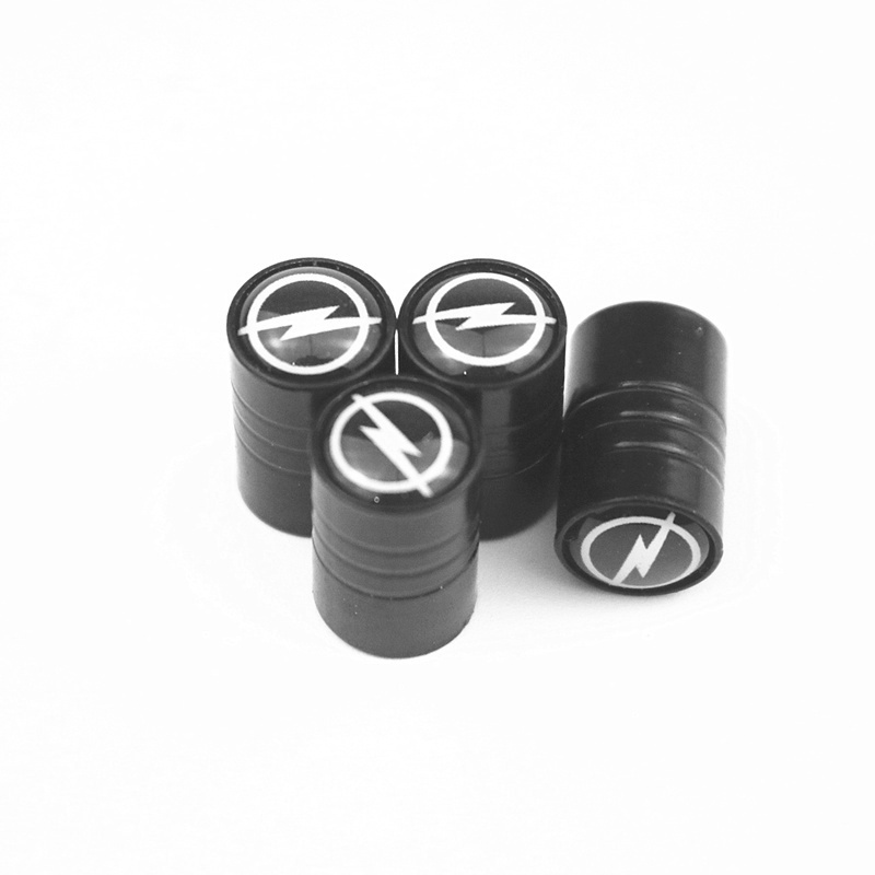 4Piece/set New Black Sport CAR Styling Auto Accessories Car Wheel Tire Valve Caps Case For OPEL Motorcycle Automobiles