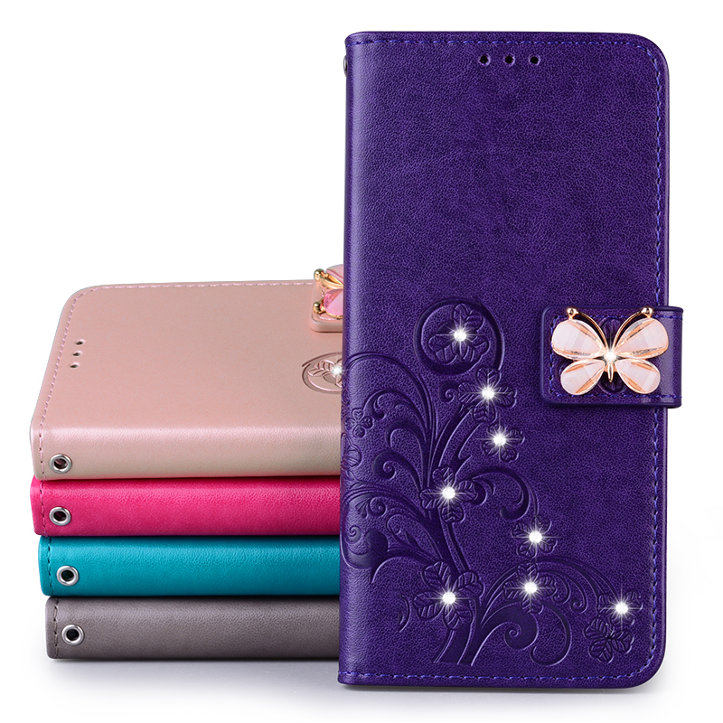 Butterfly Leather Wallet Flip Case For Samsung Galaxy S9 Note 10 Plus A6 A8 J3 J5 J7 2016 A7 A5 2017 A71 A31 A20 E A10 M30s Case