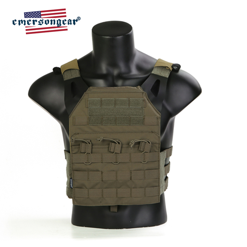 Emersongear Emerson JPC Tactical Vest Easy Vest Plate Carrier Body Armor Airsoft Protective Gear Ranger Green RG
