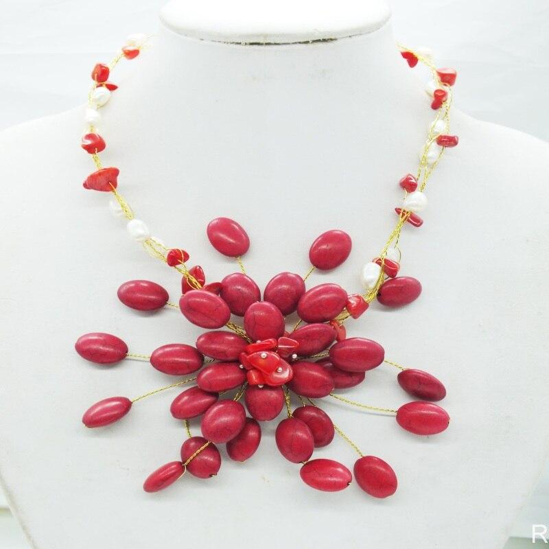 Не-295# Очаровательная винтажная леди! Кораллового цвета, цветочное колье, ожерелье
