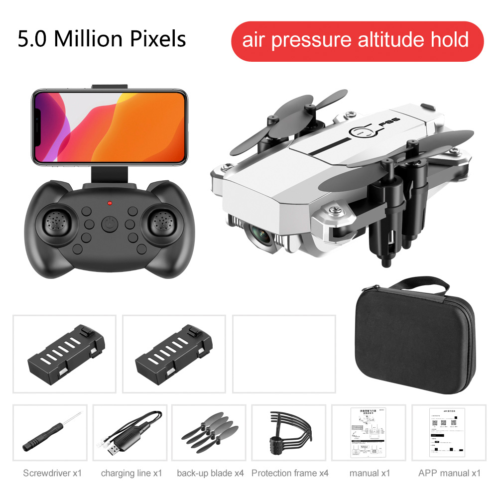 Mini Drone Profissional HD 1080P 420p Cameras F86 Wifi Foldable Drones With Camera Hight Hold Mode RC Quadcopters Dron Gifts