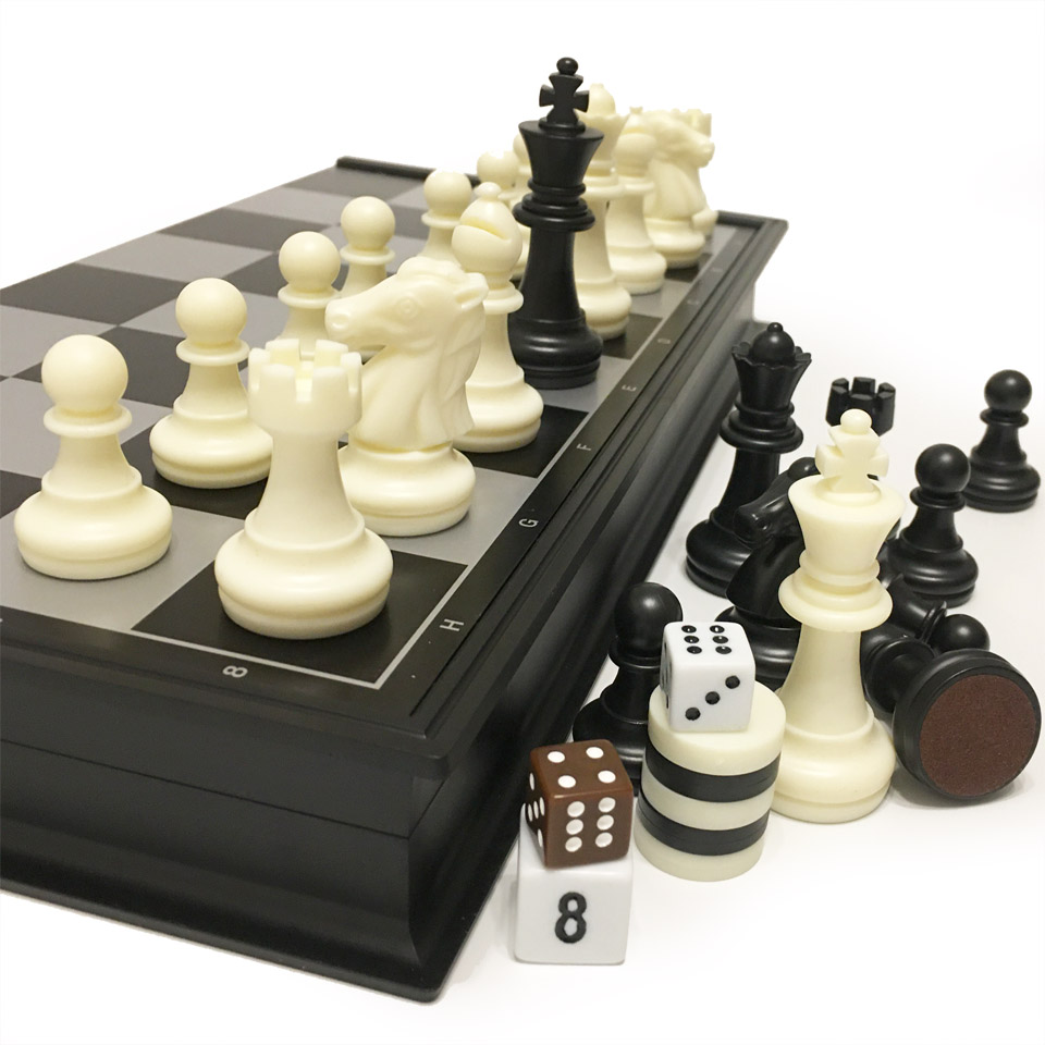 Chess And Checkers And Backgammon 3 In 1 Plastic Chess Set Travel Chess Game Magnetic Chess Pieces Folding Chess Board Gift I7