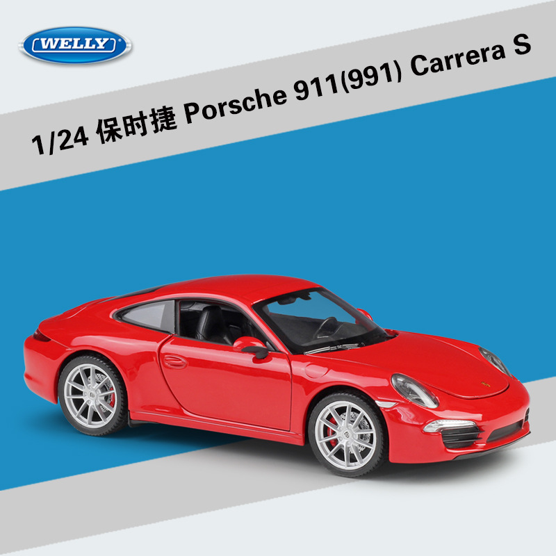 Welly 1:24 Porsche 911 CARRERA S Alloy Car Model Diecasts & Toy Vehicles Collect Gifts Non-remote Control Type Transport Toy