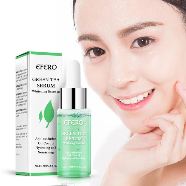 EFERO zielona herbata niezbędne Serum pielęgnacja twarzy skóry leczenie trądziku zaskórnika Remover Anti blizna plamy nawilżający niezbędne esencja