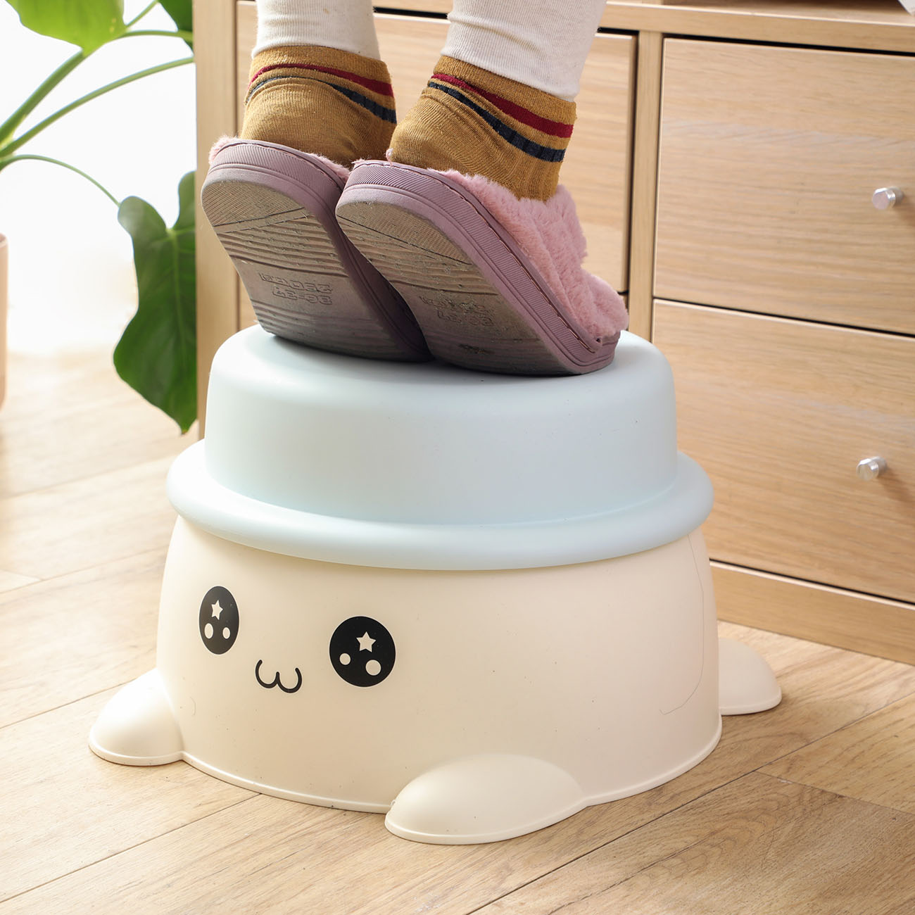 Carton Kids Sitting Stool Cute Plastic Storage Stools Living Room Change Shoes Beach Home Furniture