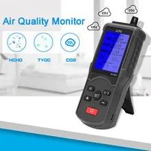 Monitor de calidad del aire port/átil Probador preciso para medidores de HCHO//TVOC Azul CO2 ppm Detector de di/óxido de carbono Analizador de gas Kacsoo Probador de calidad del aire