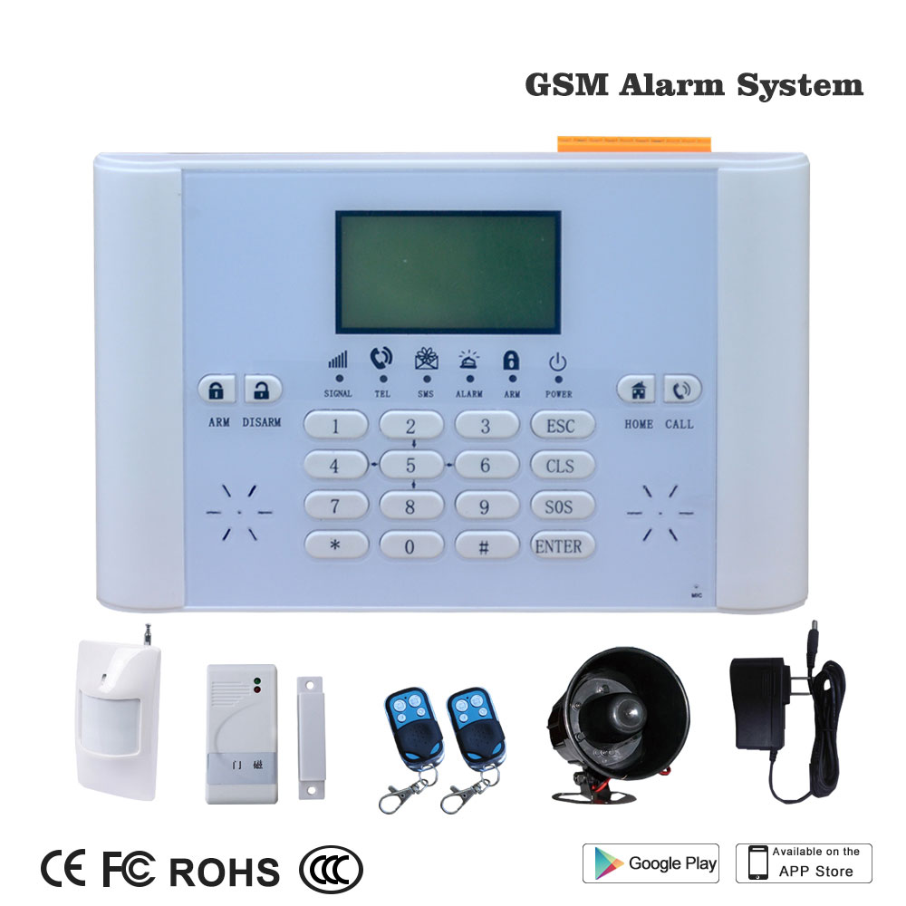 Smart Home Wireless GSM Burglar Alarm Security System LCD Fire/Door Detector Anti theft Timing Arm/Disarm Alert Push To Mobile