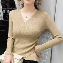 Bethquenoy женский свитер элегантная женская одежда с v образным