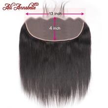 13x4 HD шнурка с детскими волосами перуанские прямые предварительно собранные человеческие волосы средней длины коричневого цвета 13x4 застежк...