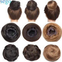 Bundle Hair-Extensions Ponytail Scrunchies Human-Hair Drawstring SEGO Hairpiece Donut-Chignon