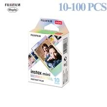 Fujifilm 10 100 folhas instax square film foto papel sereia cauda compatível com fujifilm instax mini 7/8/9/25/50/70/90