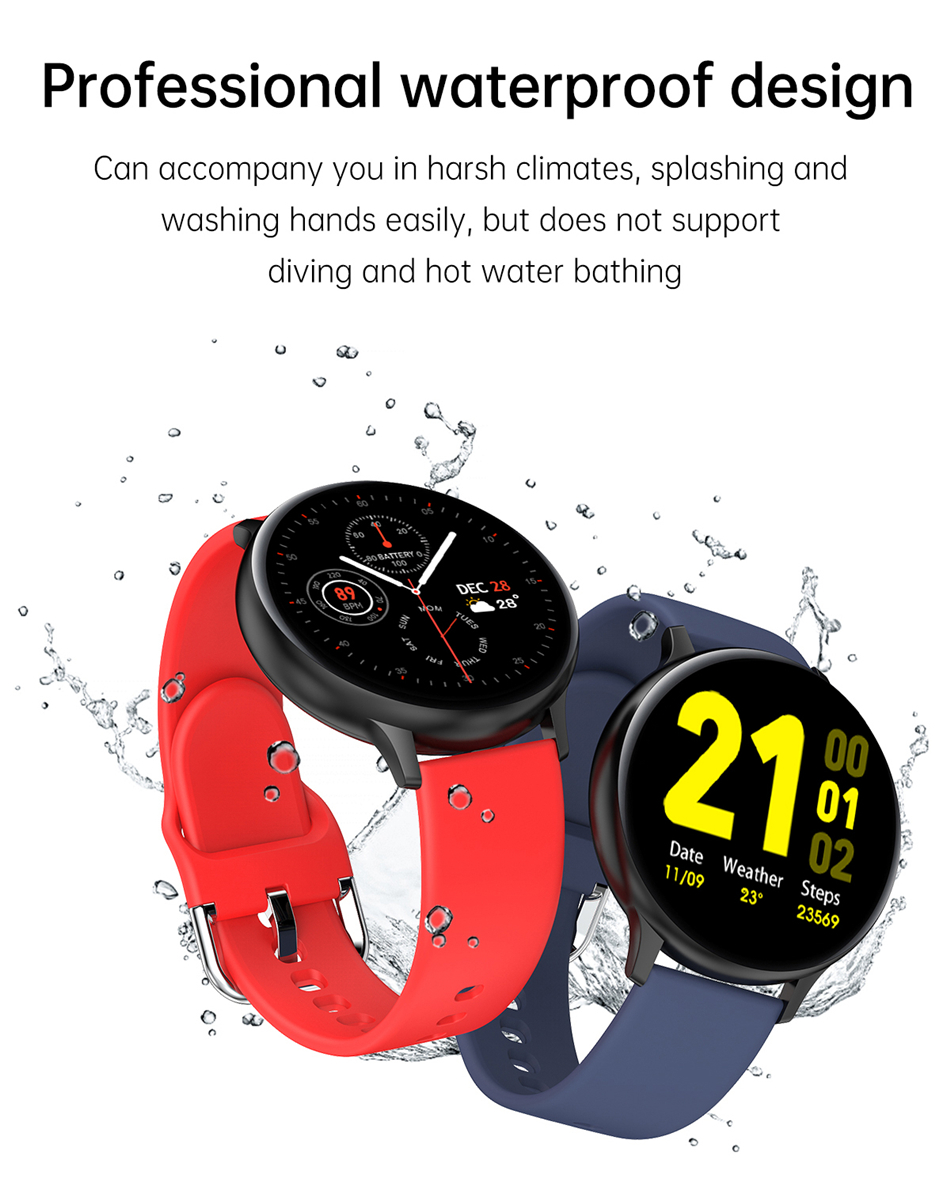 Hcede3cc45d6d451da98293fb35ef0130C 2021 Bluetooth Call watch Smart watch For men And women Full touch fitness tracker Blood pressure Smart clock ladies Smart watch