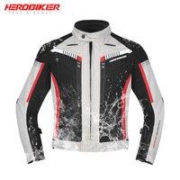 HEROBIKER New Autumn Winter Motorcycle Jacket Waterproof Windproof Moto Jacket Riding Racing Motorbike Clothing Protective Gear