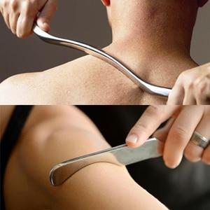 Image 2 - Masaż mięśni relaks Gua Sha fizykoterapia tkanek miękkich ze stali nierdzewnej zmniejszenie bólu ciała narzędzie do masażu