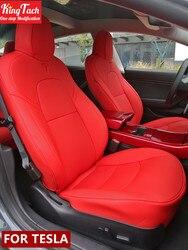 Чехлы для автомобильных сидений Tesla Model 3 S X, наполовину объемное водонепроницаемое кожаное сиденье, защита с воздушными отверстиями, нестан...