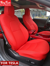 Car Seat Covers For Tesla Model 3 S X  Half Surround Waterproof Leather Seat Protector With air holes Custom Inerior Accessories