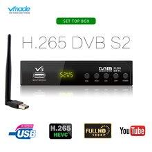 Vmade Heißer Verkauf Satellite TV Empfänger Voll HD 1080P DVB S2 H.265 Super Rezeptor Unterstützung Youtube M3U Mit USB WIFI TV Set Top Box