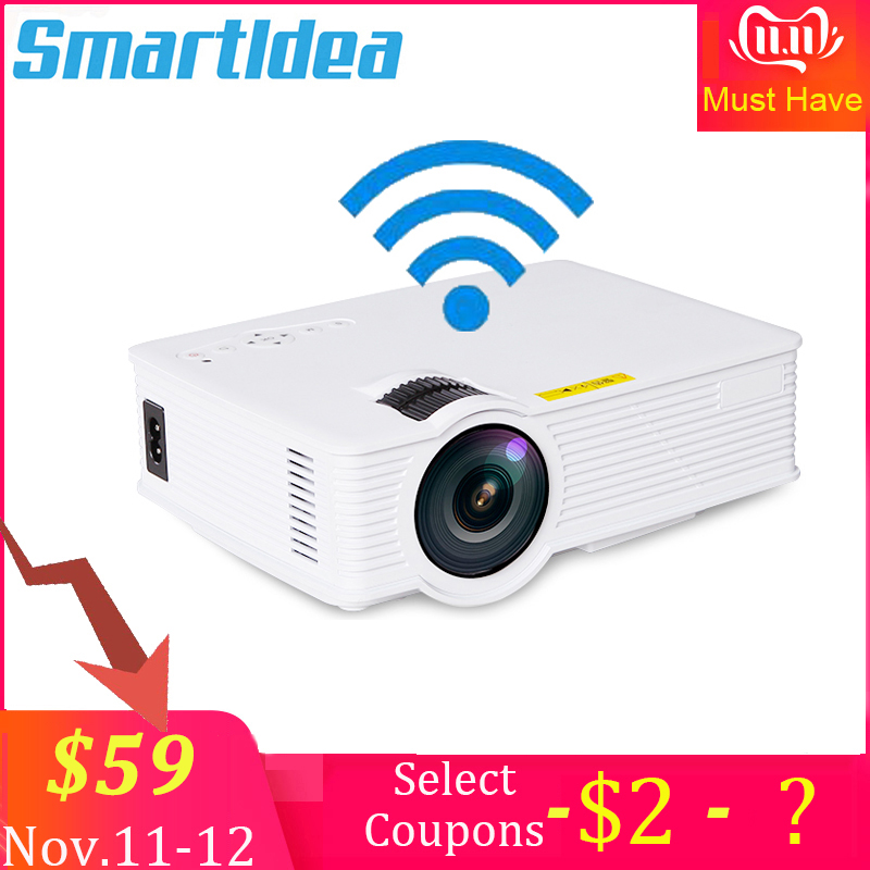 S90 S90wifi (Android 6.0) Mini LED Home Cinema Projector WiFi 1800lumens Multimedia LCD Proyector 3D Beamer Support AC3 HD 1080P-in LCD Projectors from Consumer Electronics