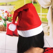 Santa Claus Christmas Hat Red And White Party Hats Holiday Festival Costume Cap(China)