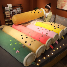 100/130/150cm Real-life Bubble Tea Cup Plush Long Pillow Kawaii Fruit Milk Tea Plush Toys Soft Sleeping Cushion Stuffed Toys