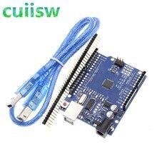 Cuiisw placa uno r3, 1 un., ch340g + mega328p, chip 16mhz para desenvolvimento arduino uno r3 placa + cabo usb