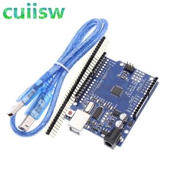 Cuiisw 1 sztuk UNO R3 UNO pokładzie UNO R3 CH340G + MEGA328P Chip 16Mhz dla Arduino UNO R3 pokładzie rozwoju + kabel USB tanie i dobre opinie CN (pochodzenie) Nowy REGULATOR NAPIĘCIA do komputera