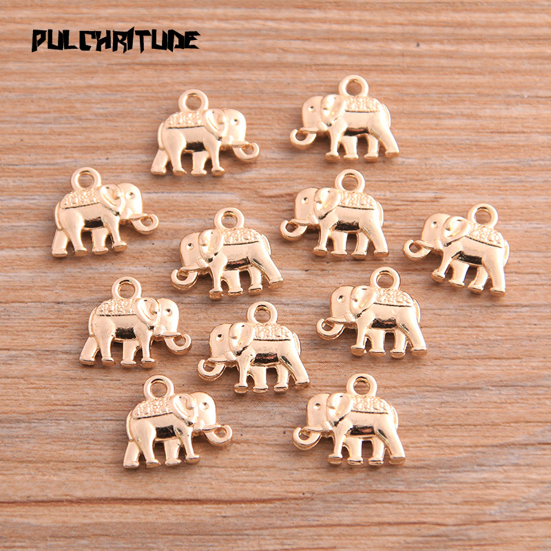 20pcs 12*13mm Three Color Metal Zinc Alloy Small Elephant Charms Fit Jewelry Animal Pendant Charms Makings 5