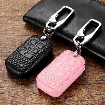 Genuine Leather Car Smart Remote Key Case Full Cover For Roewe RX5 i6 ERX5 i5 RX8 RX3 For MG6 MG ZS EV EZS HS EHS Accessories image
