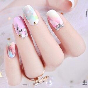 Image 4 - VINIMAY akwarela atrament żelowy lakier do paznokci kwitnący żel magia Smudge Bubble żel do paznokci DIY lakier Manicure dekoracja salon paznokci zestaw