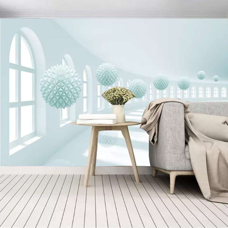 Customizable Seamless Whole Piece 3D Mural 5D Abstract Spherical Space Living Room Bedroom Sofa TV Background Wallpaper