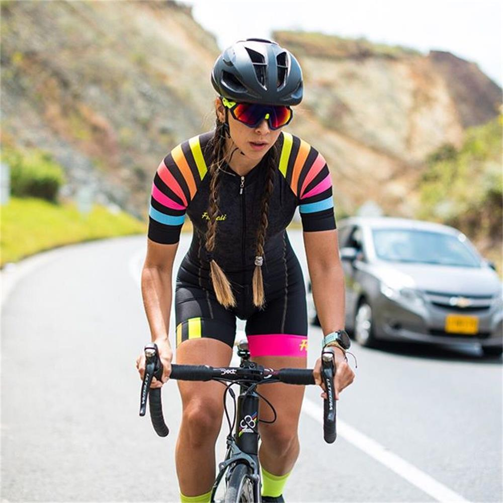 Triathlon Suit Women Frenesi colombia Bicycle Clothing Suit Cycling Skinsuit Jumpsuit Summer Sports Clothes Running Swimmin Set