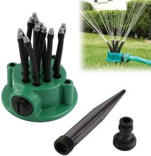 Lawn Sprinkler 360 Degree Automatic Adjustable Flexible Lawn Garden Sprinklers Water Irrigation Spray Grass Lawn Watering Nozzle 4 points alloy nozzle automatic rotation lawn watering gardening watering cooling agricultural spray irrigation